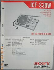 SONY ICF-S30W 2-Band Radio Service Manual