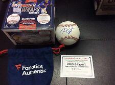 2016 Fanatics under wraps Kris Bryant Auto Autograph sign MLB Ball COA MVP