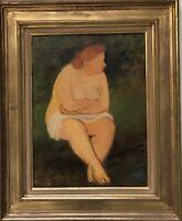 Savin Maurice huile sur toile signée peintre graveur céramiste médailleur