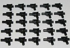LEGO LOT OF 25 NEW BLACK MINIFIGURE GUNS WEAPONS STAR WARS MINIFIG PARTS