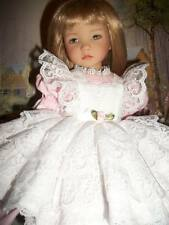 Effner Little Darling Dolls Pink Lacy Pinafore Dress