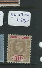 MALAYA STRAITS SETTLEMENTS (P1205B) KE 30C  SG 117  MOG