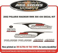 2002 POLARIS MAGNUM RMK 500 4X4  DECAL KIT, REPRODUCTIONS