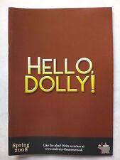 HELLO DOLLY!.W MIDLANDS.MALVERN PROGRAMME TICKET 9-4-08.ANITA DOBSON.DARREN DAY