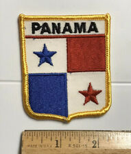 Panama Panamanian National Flag Souvenir Embroidered Patch Badge Shield Crest