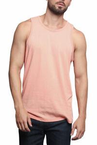 Men's Basic Straight Hem Long Length Tank Top Sleeveless T-shirts  S~5XL  TT60-H
