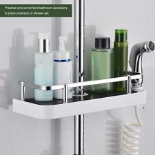 Bathroom Pole Shelf Holder Shower Storage Caddy Rack Organiser Tray Accessory