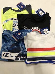 Lot Of 4 Champion Boys Short Sleeve Shirts Size 5/6 Brand New