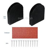 Rubber 4.2 x 5cm Shoe High Heel Tip Stiletto Repair Kit 2 Caps 12 Nail Sandpaper
