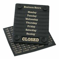 Beaumont Adjustable Opening Hours Sign Open Closed Business Shop Window Plastic