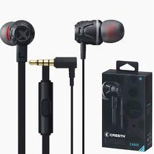 CRESYN C450S Black In Ear Earset Earphones Headphones with Mic For Smartphones