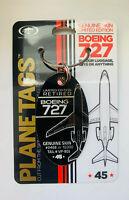 Alu Schlüsselanhänger original Boeing 727 von Donald Trump Keyring Planetags NEU