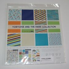 Boy Theme Scrapbook Collection Kit Piggy Tales w/ Paper Stickers Rub-ons Cars