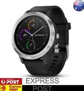 GARMIN VIVOACTIVE 3 GPS SPORTS Smartwatch HRM Heart Rate Monitor Steel Silver