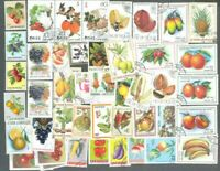 Fruits & Vegetables 100 all different stamps collection