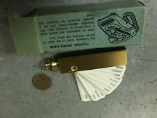 Vintage Brass Rotary Telephone Dialer With Original Box