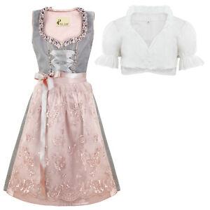 Alte Liebe Trachtenkleid 3tlg. Kinder Dirndl mit Spitzenschürze Kinder Kleid