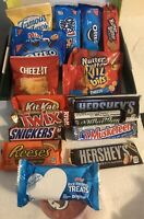 Snacks Care Package 19 Variety of Chips, Cookies, Crackers & Candy Bars FRESH!