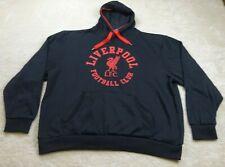 Liverpool FC Sweater Adult 3XL XXXL Black Red Logo Pullover Pockets Cotton Mens