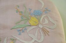 TEA COZY – VINTAGE MADEIRA EMBROIDERED & APPLIQUE ORGANDY TEAPOT COVER TT799