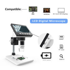 "HD 1080P 4.3"" 1000x  Magnifier Camera Digital Soldering electronic Microscope"