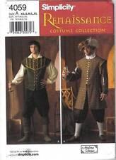 Simplicity Pattern 4059 Renaissance Costume Men's Sizes XS, S, M, L, XL Uncut
