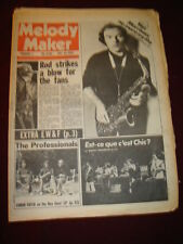 MELODY MAKER 1979 FEB 3 ROD STEWART BEE GEES EARTH WIND FIRE VAN MORRISON