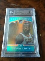 LeBron James 2017/18 Donruss Optic Court kings Prizm Rare Aqua /25 Bgs 9 Mint 💎