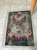 2020 Panini Prizm Draft Saquon Barkley Green Ice Crusade  RARE  5/18 Giants