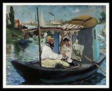Edouard Manet Die Barke 1874 Poster Bild Kunstdruck im Alu Rahmen in schwarz