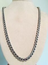 "BIKER FRANCO STERLING SILVER LINK MENS CHAIN NECKLACE 5.5MM / 30"" Inches Long!!!"
