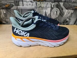 HOKA ONE ONE CLIFTON 7 WOMEN'S NAVY TRAINER SIZE UK 7 EU 40⅔ Wide.