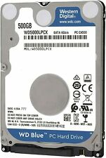 "Disco Duro Western Digital 500GB 2,5"" SATA III 5400RPM WD5000LPCX Usado"