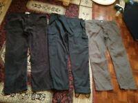 "mens jeans and combat trouser job lot size waist 44""  leg 33"" Long"