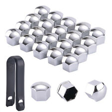 20PC 17MM CHROME SILVER ALLOY WHEEL NUT BOLT COVERS CAPS UNIVERSAL SET FOR CAR