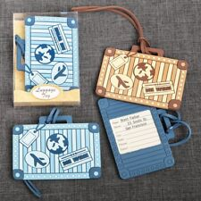 48 Suitcase Travel Themed Luggage Tags Wedding Bridal Shower Party Gift Favors