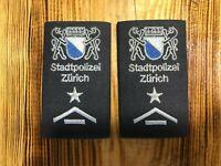 SWISS SWITZERLAND PAIR PATCH POLICE POLIZEI CANTON ZURICH - ORIGINAL!