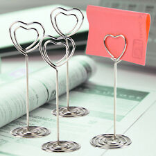24Pcs Love Heart Shape Name Number Card Place Holder Clip Wedding Table Stand