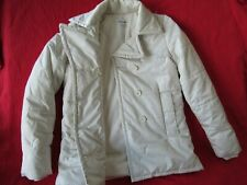 LACOSTE Ivory Double Breasted Fleece Lined Puffer Winter Coat Womens size 36