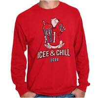 Icee Chill Officially Licensed Retro Graphic Long Sleeve Tshirt Tee for Adults