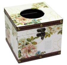 Vintage Floral Design Square Tissue Box