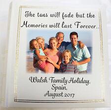 Personalised Photo Album, Family Holiday Book, Memory keepsake (6 x 4) 300 photo