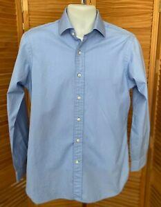 Polo Ralph Lauren Men's Blue L/S Button Up Dress Shirt Size 15 1/2 34-35