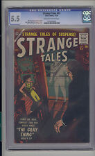 Strange Tales #53 CGC 5.5 FN- Unrestored Atlas Marvel Scarce OW/W Pages
