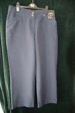 Ladies New Size 14 Petite Navy Trousers