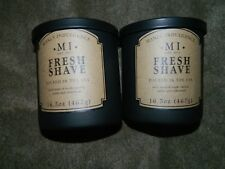 MANLY INDULGENCE 16.5 OZ JAR CANDLE NEIMAN MARCUS FRESH SHAVE BROWN LABEL x 2
