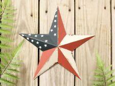 Primitive Metal Barn Star Americana 12 inch Patriotic Country Rustic Farm NEW