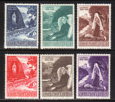 W492 VATICANO 1958 Centenario Lourdes serie n. 233/238    MNH**