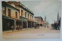 Russell Street Melbourne Victoria Collectable Vintage Antiquarian Postcard.