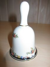 Wedgwood fine bone china Osborne pattern bell, white w black deco floral design
